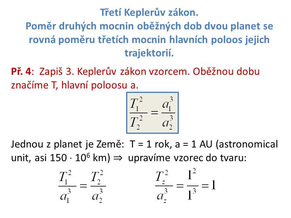 Třetí Keplerův zákon.