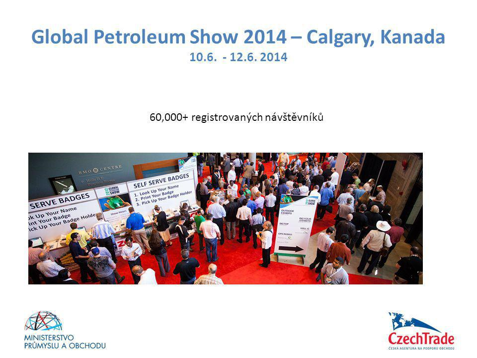 Global Petroleum Show 2014 – Calgary, Kanada 10.6. - 12.6. 2014 60,000+ registrovaných návštěvníků
