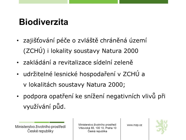 Ministerstvo životního prostředí České republiky Ministerstvo životního prostředí Vršovická 65, 100 10, Praha 10 Česká republika www.mzp.cz • zajišťov