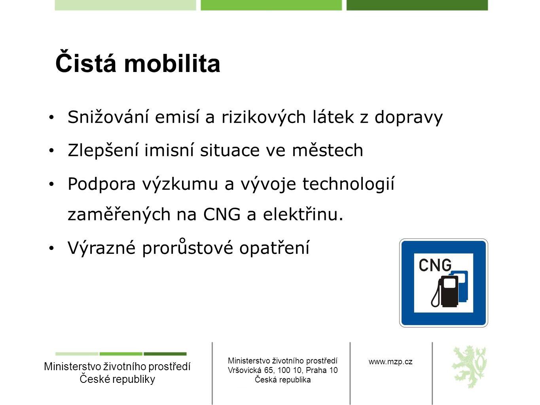 Ministerstvo životního prostředí České republiky Ministerstvo životního prostředí Vršovická 65, 100 10, Praha 10 Česká republika www.mzp.cz • Snižován