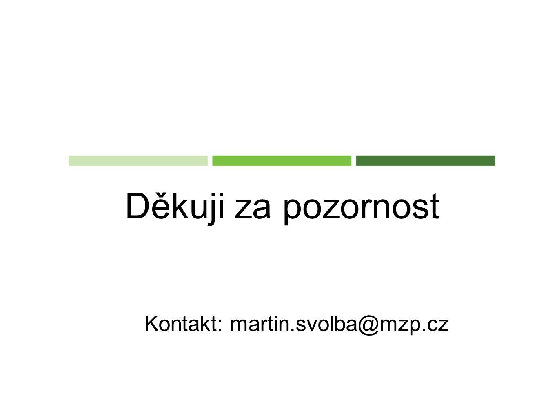 Děkuji za pozornost Kontakt: martin.svolba@mzp.cz