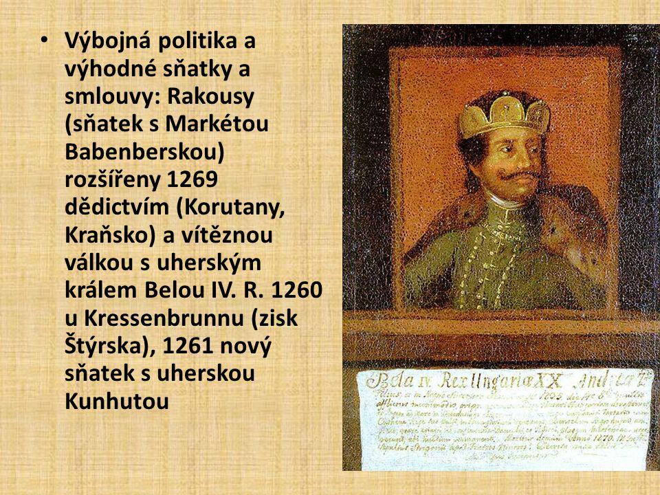 Přemysl Otakar II. • Král železný a zlatý – nejslavnější a nejmocnější přemyslovský panovník v Čechách i ve střední Evropě • Přemyslova říše – Silný h