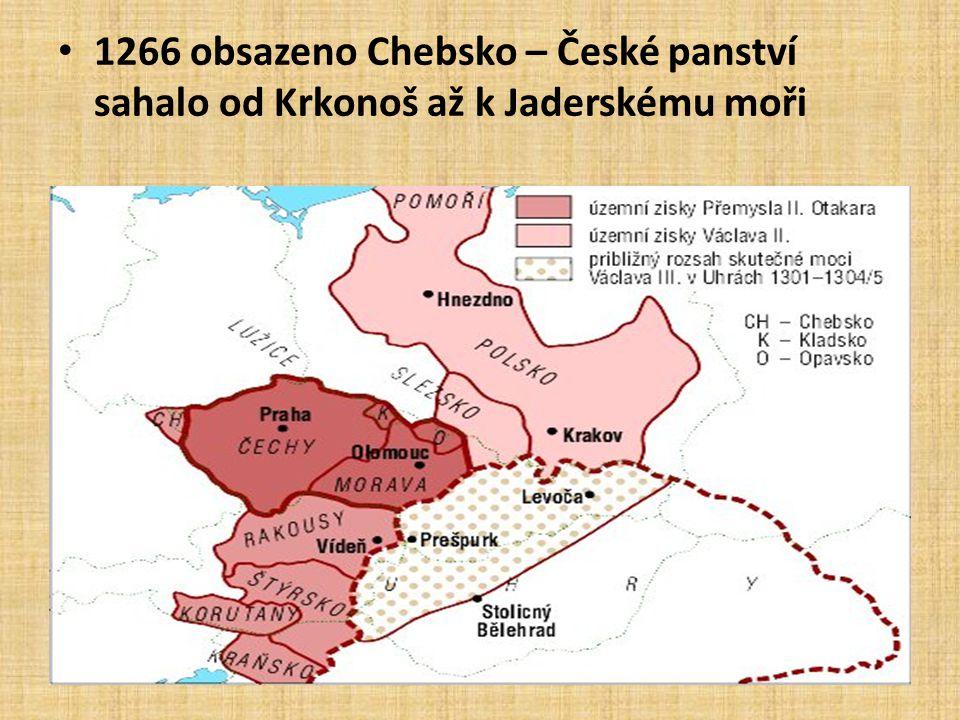 • Výbojná politika a výhodné sňatky a smlouvy: Rakousy (sňatek s Markétou Babenberskou) rozšířeny 1269 dědictvím (Korutany, Kraňsko) a vítěznou válkou