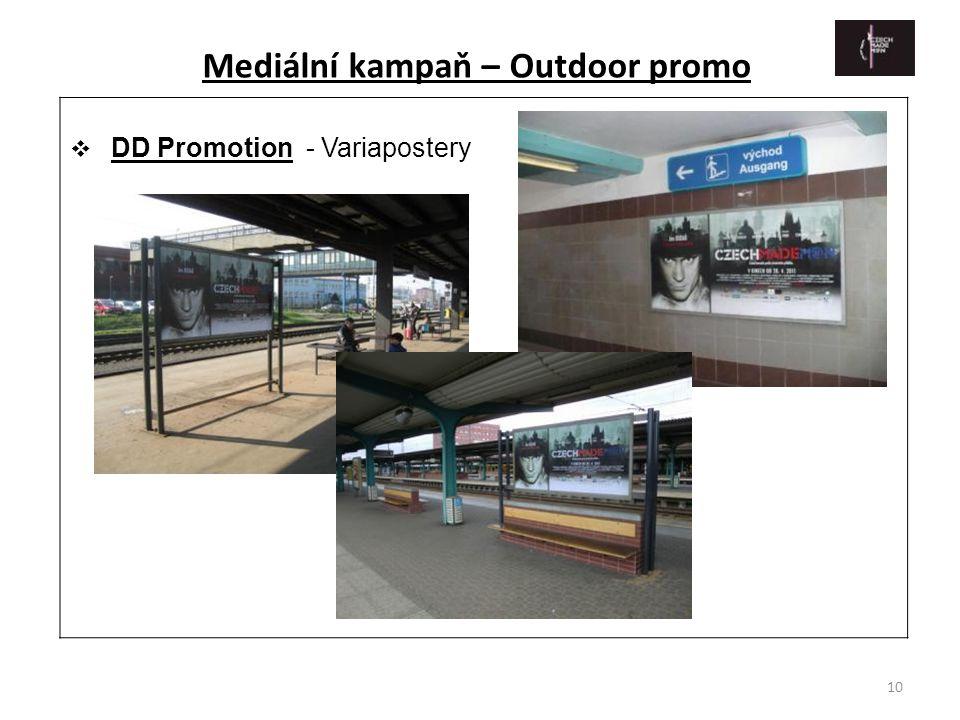10  DD Promotion - Variapostery Mediální kampaň – Outdoor promo