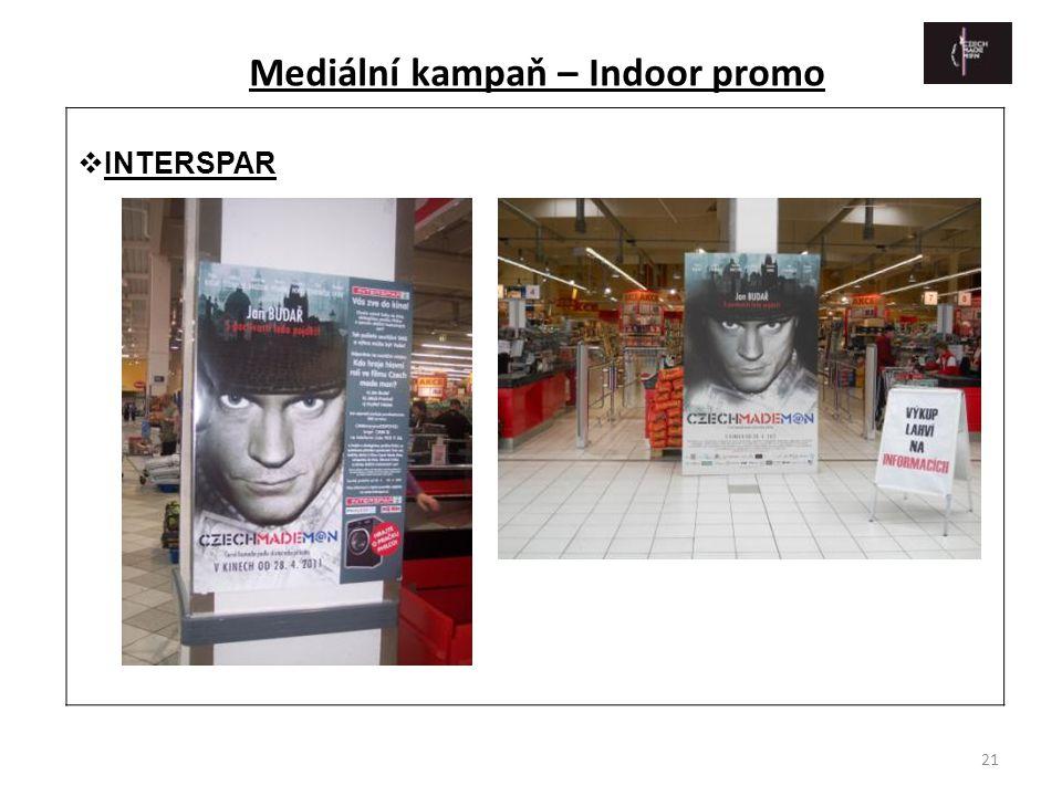 21  INTERSPAR Mediální kampaň – Indoor promo