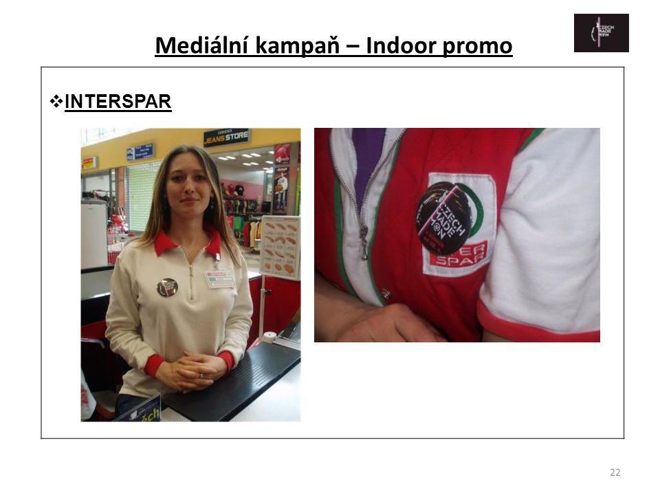 22  INTERSPAR Mediální kampaň – Indoor promo