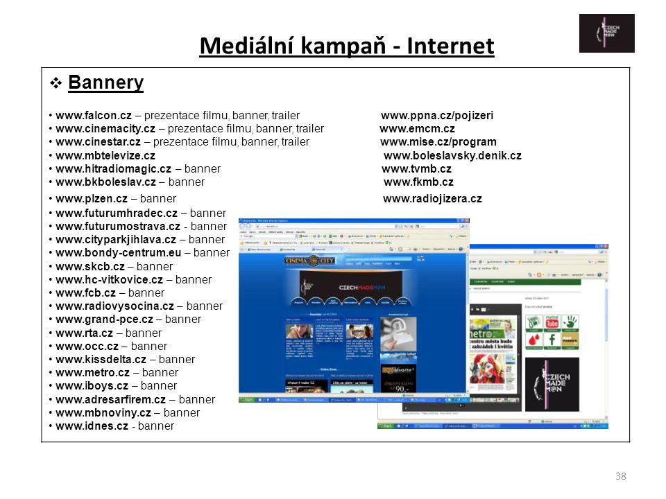 38  Bannery • www.falcon.cz – prezentace filmu, banner, trailer www.ppna.cz/pojizeri • www.cinemacity.cz – prezentace filmu, banner, trailer www.emcm