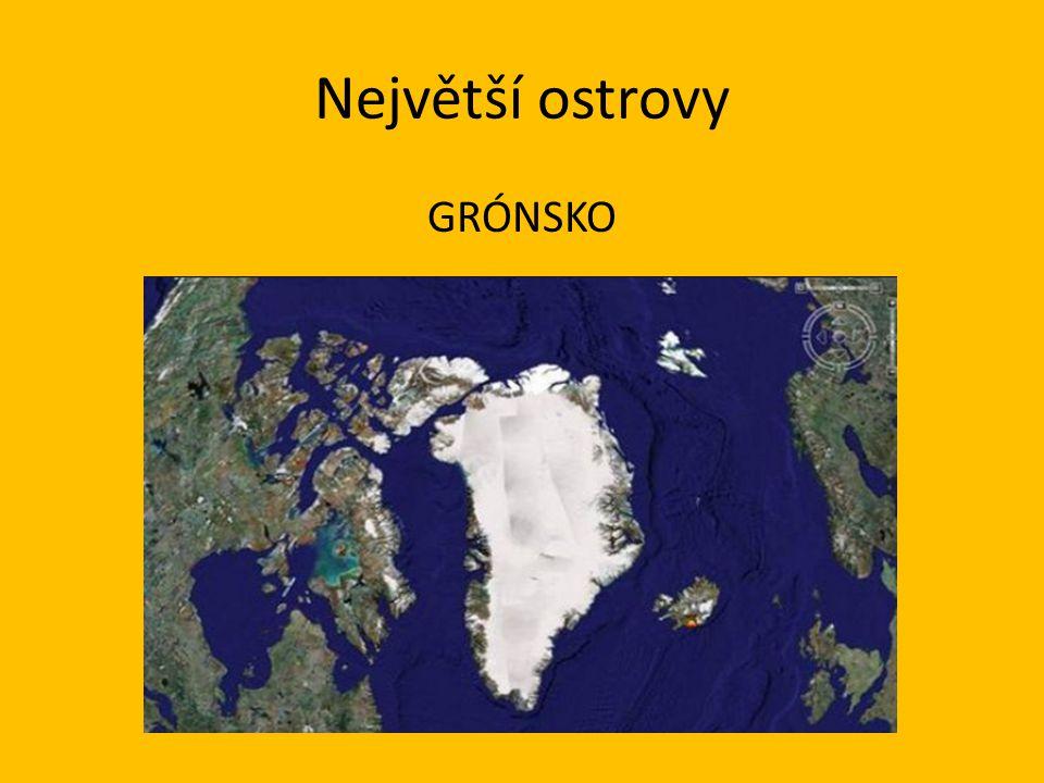 Největší ostrovy GRÓNSKO