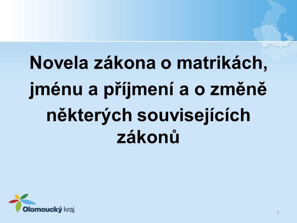 Příslušné matriční úřady (příloha č.1 vyhl. č. 300/2006 Sb.) Registrující matriční úřady (od 1.