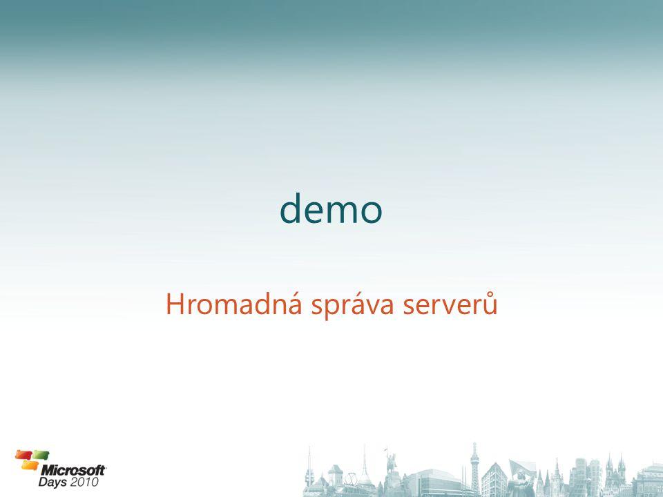 demo Hromadná správa serverů