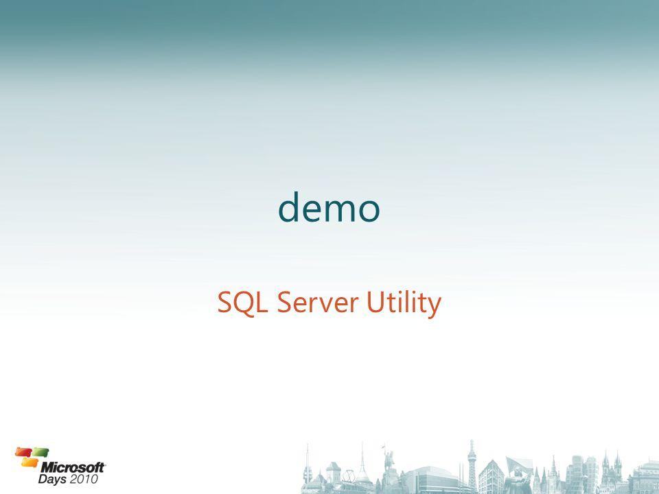 demo SQL Server Utility