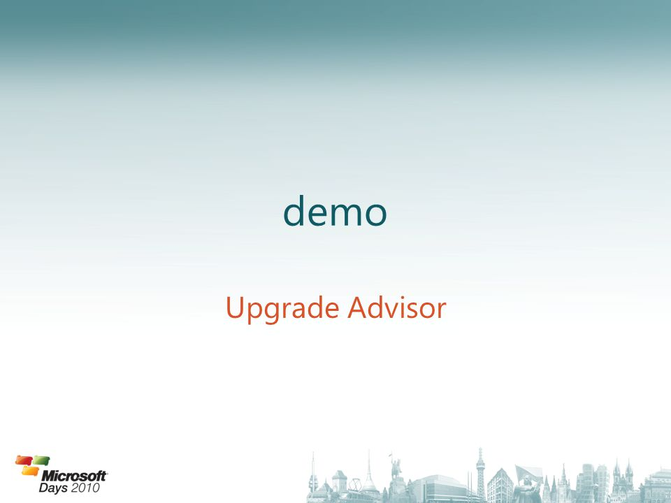 demo Upgrade Advisor