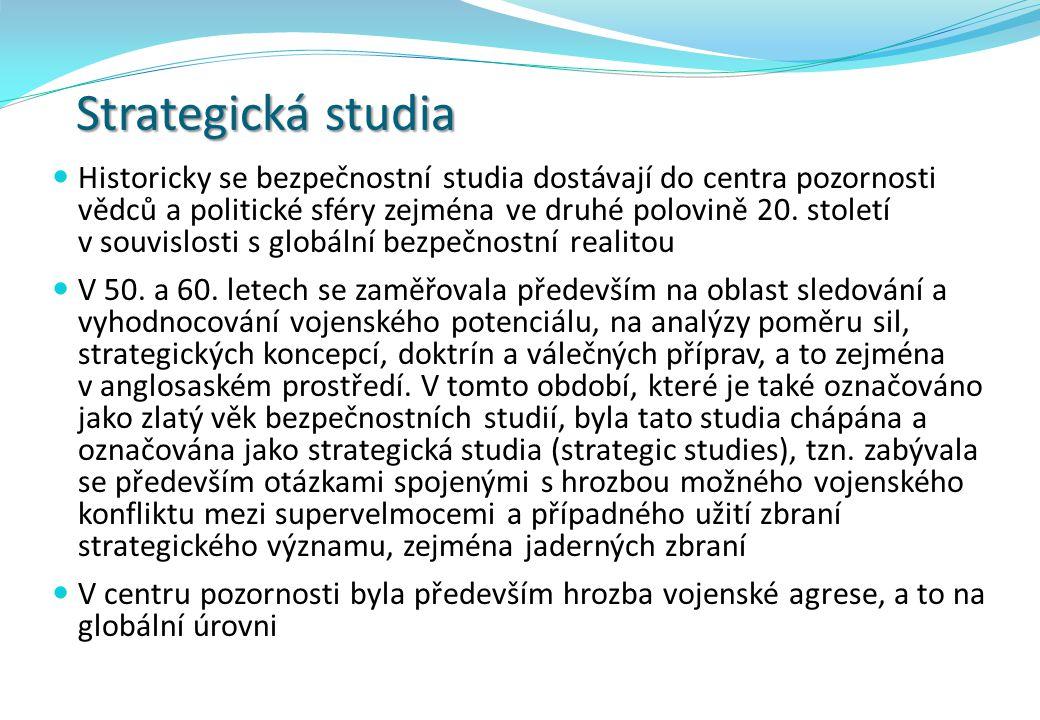 Studia (výzkumu) konfliktu a míru  60.-70.