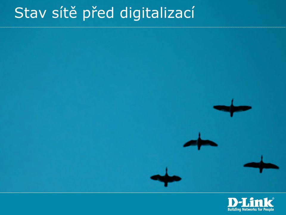Stav sítě před digitalizací