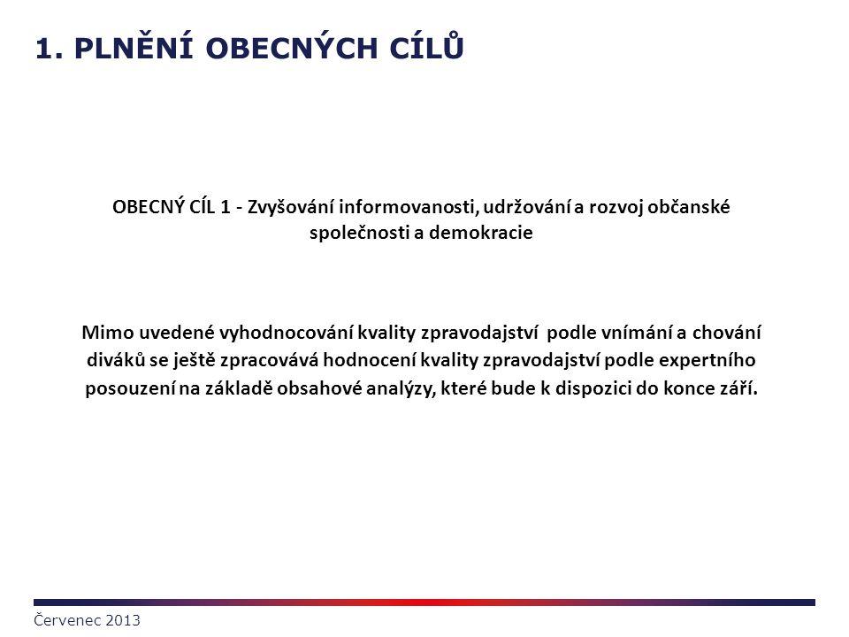 1. PLNĚNÍ OBECNÝCH CÍLŮ Červenec 2013 OBECNÝ CÍL 1 - Zvyšování informovanosti, udržování a rozvoj občanské společnosti a demokracie Mimo uvedené vyhod