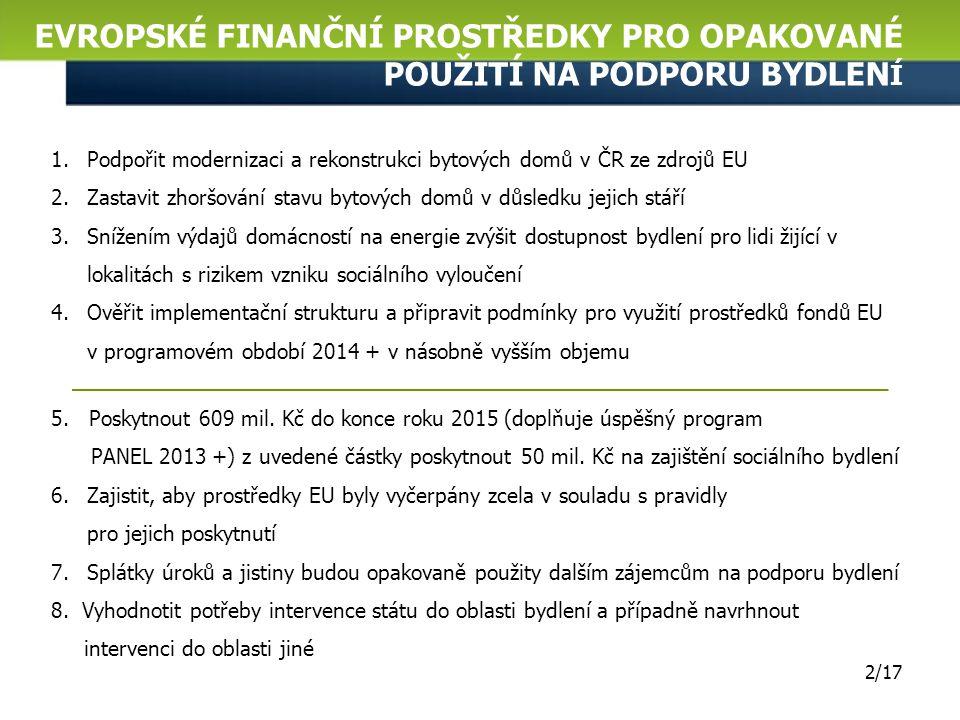Finanční nástroje JESSICA v IOP Vyhlášení Veřejné zakázky na Fond rozvoje měst JESSICA Joint European Support for Sustainable Investment in City Areas Společná evropská podpora udržitelných investic do městských oblastí Státní fond rozvoje bydlení 5.