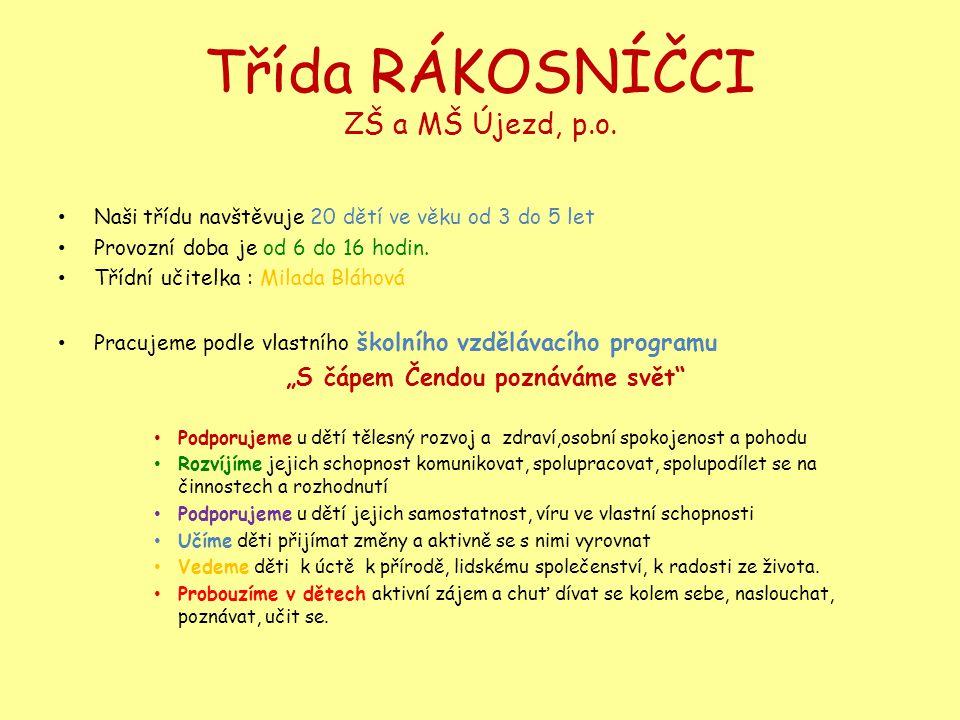 Třída RÁKOSNÍČCI ZŠ a MŠ Újezd, p.o.