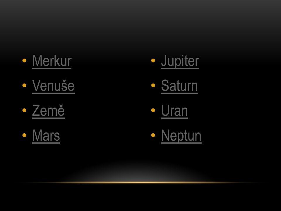 • Merkur je Slunci nejbližší a současně i nejmenší planetou sluneční soustavy, [ která dosahuje pouze o 40 % větší velikosti než pozemský Měsíc.