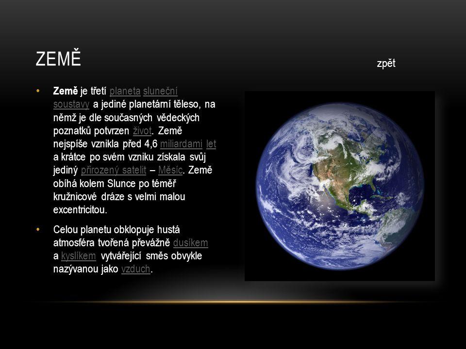 • Mars je čtvrtá planeta sluneční soustavy, druhá nejmenší planeta soustavy po Merkuru.