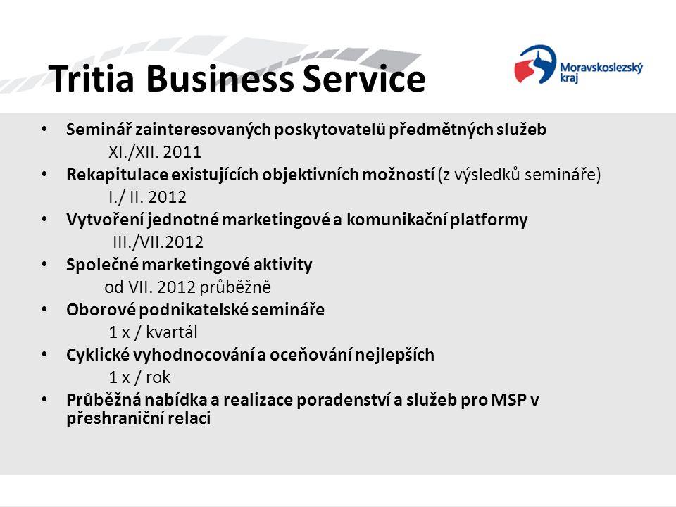 Tritia Business Service • Seminář zainteresovaných poskytovatelů předmětných služeb XI./XII. 2011 • Rekapitulace existujících objektivních možností (z