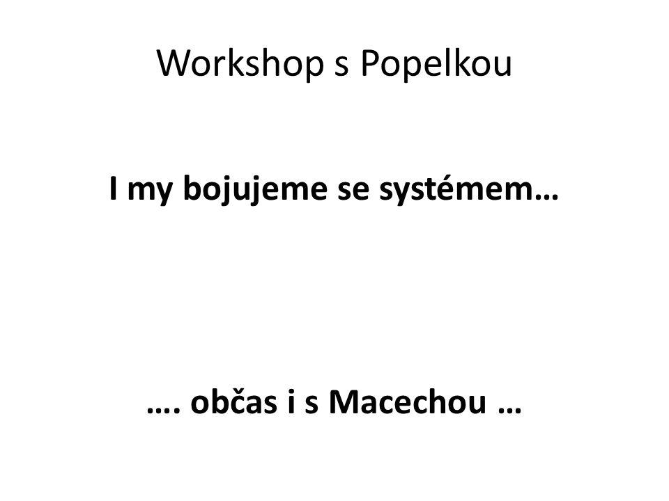 Workshop s Popelkou I my bojujeme se systémem… …. občas i s Macechou …