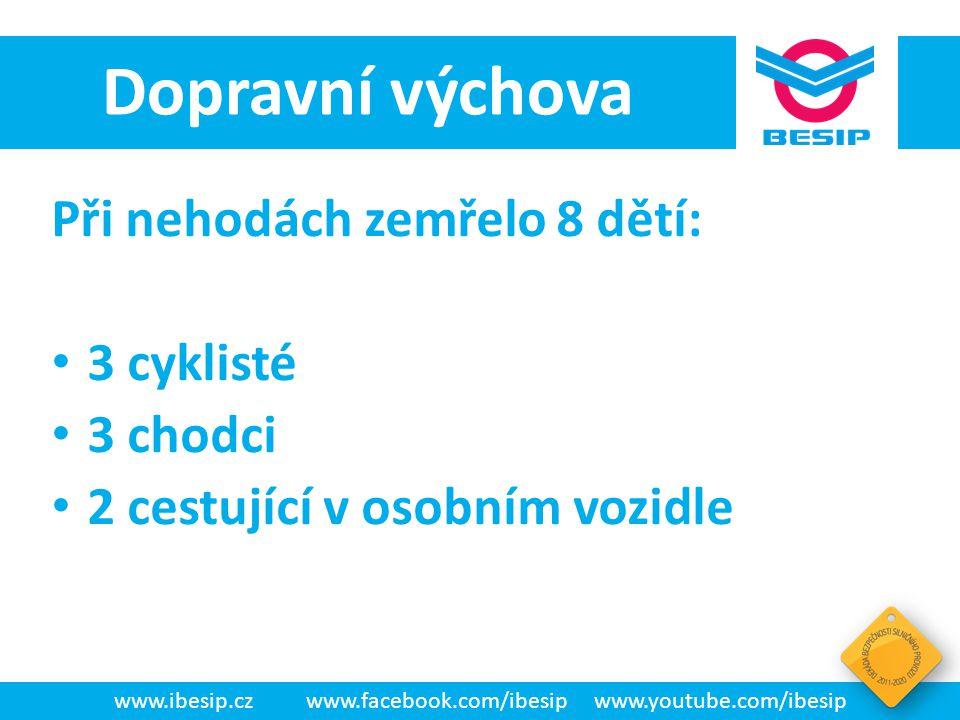 BESIP v ČR - realita Na celkovém počtu usmrcených osob v období 1993 – 2012 činil podíl dětí 3,03 % V roce 1994 byl podíl dětí nejvyšší (5,09 %), naopak v roce 2013 nejnižší (1,37 %).