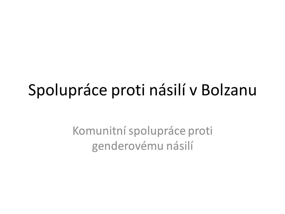 Spolupráce proti násilí v Bolzanu Komunitní spolupráce proti genderovému násilí