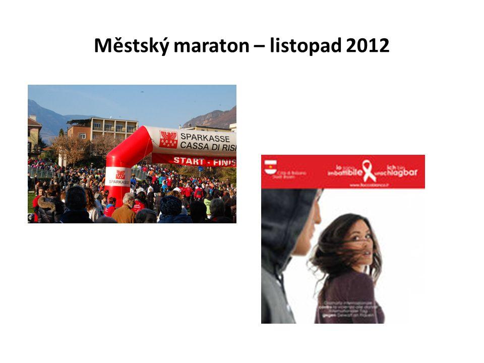 Městský maraton – listopad 2012