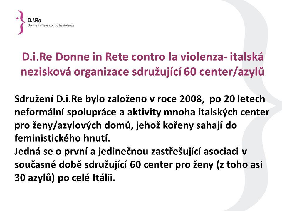 D.i.Re Donne in Rete contro la violenza- italská nezisková organizace sdružující 60 center/azylů Sdružení D.i.Re bylo založeno v roce 2008, po 20 letech neformální spolupráce a aktivity mnoha italských center pro ženy/azylových domů, jehož kořeny sahají do feministického hnutí.