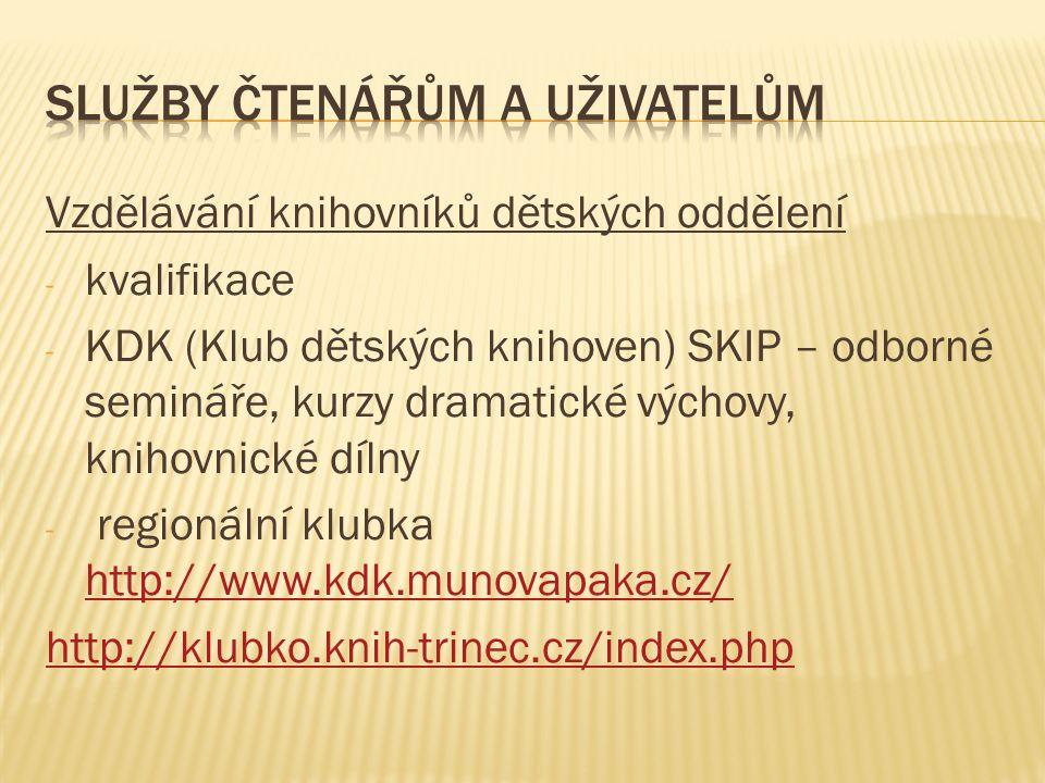 Knihovna města Olomouce - oddělení pro děti a mládež v ústřední budově na nám.