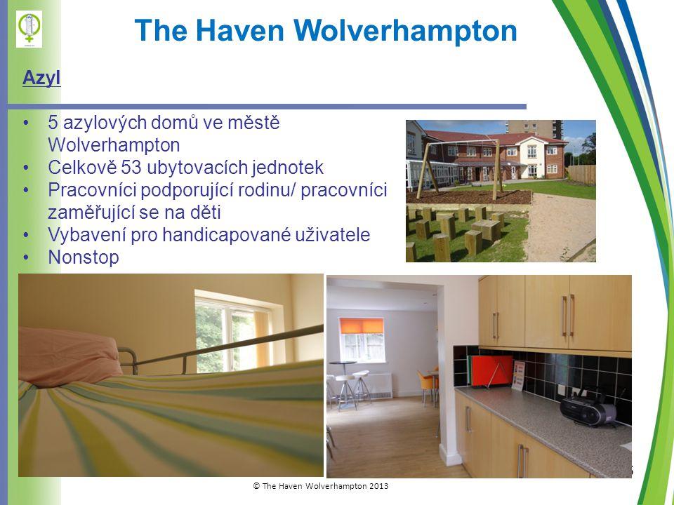 5 The Haven Wolverhampton Azyl •5 azylových domů ve městě Wolverhampton •Celkově 53 ubytovacích jednotek •Pracovníci podporující rodinu/ pracovníci zaměřující se na děti •Vybavení pro handicapované uživatele •Nonstop © The Haven Wolverhampton 2013