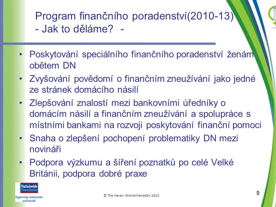 Program finančního poradenství(2010-13) - Jak to děláme.
