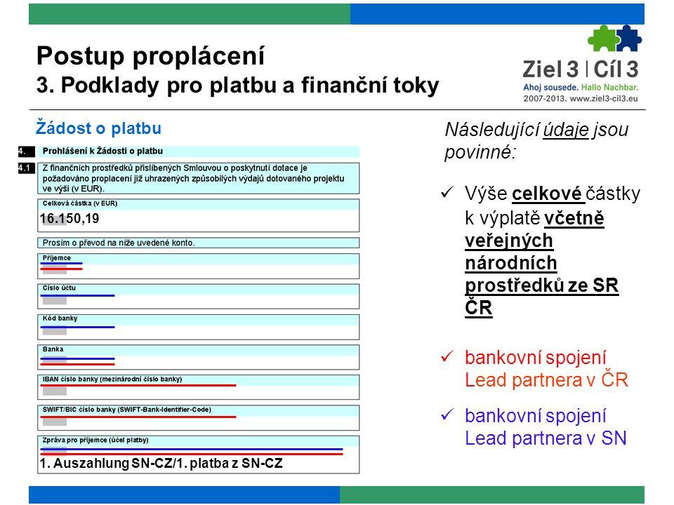 Následující údaje jsou povinné:  Výše celkové částky k výplatě včetně veřejných národních prostředků ze SR ČR 16.150,19 1.