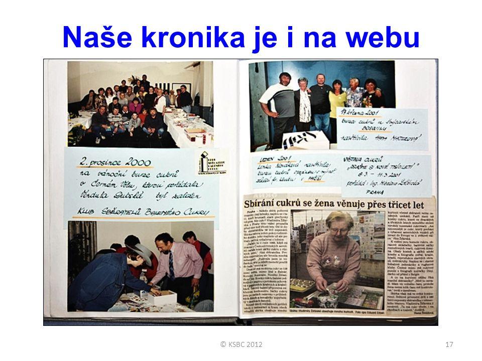 Naše kronika je i na webu 17© KSBC 2012