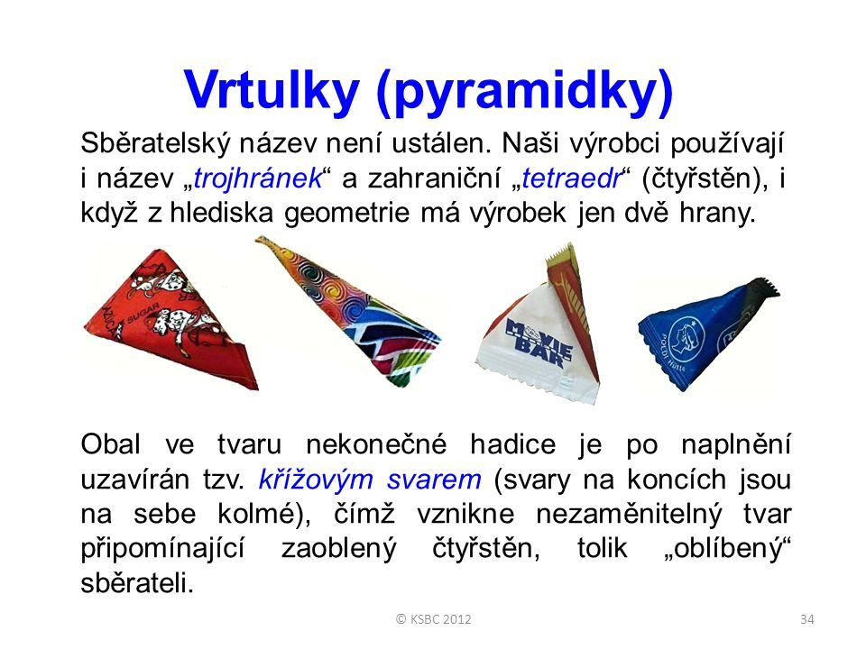 """© KSBC 201234 Vrtulky (pyramidky) Sběratelský název není ustálen. Naši výrobci používají i název """"trojhránek"""" a zahraniční """"tetraedr"""" (čtyřstěn), i kd"""