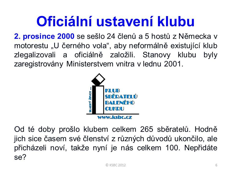 """Oficiální ustavení klubu 2. prosince 2000 se sešlo 24 členů a 5 hostů z Německa v motorestu """"U černého vola"""", aby neformálně existující klub zlegalizo"""
