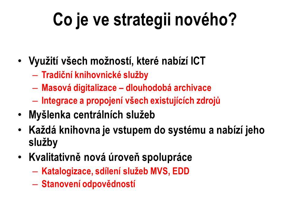 Co je ve strategii nového.