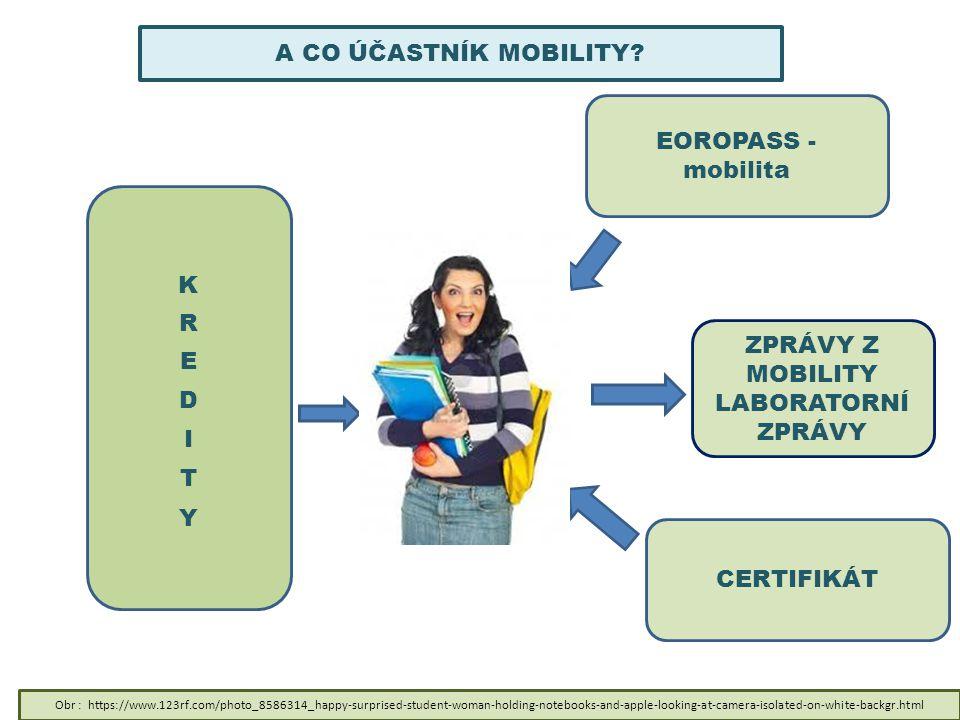 EOROPASS - mobilita CERTIFIKÁT A CO ÚČASTNÍK MOBILITY? ZPRÁVY Z MOBILITY LABORATORNÍ ZPRÁVY Obr : https://www.123rf.com/photo_8586314_happy-surprised-