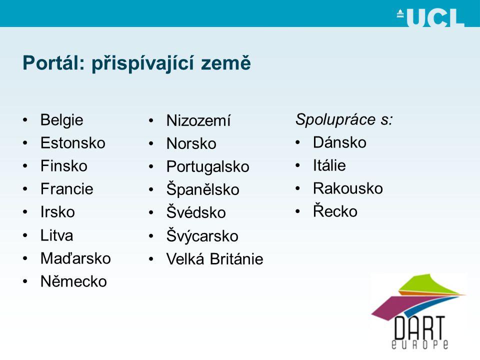 Portál: přispívající země •Belgie •Estonsko •Finsko •Francie •Irsko •Litva •Maďarsko •Německo •Nizozemí •Norsko •Portugalsko •Španělsko •Švédsko •Švýcarsko •Velká Británie Spolupráce s: •Dánsko •Itálie •Rakousko •Řecko