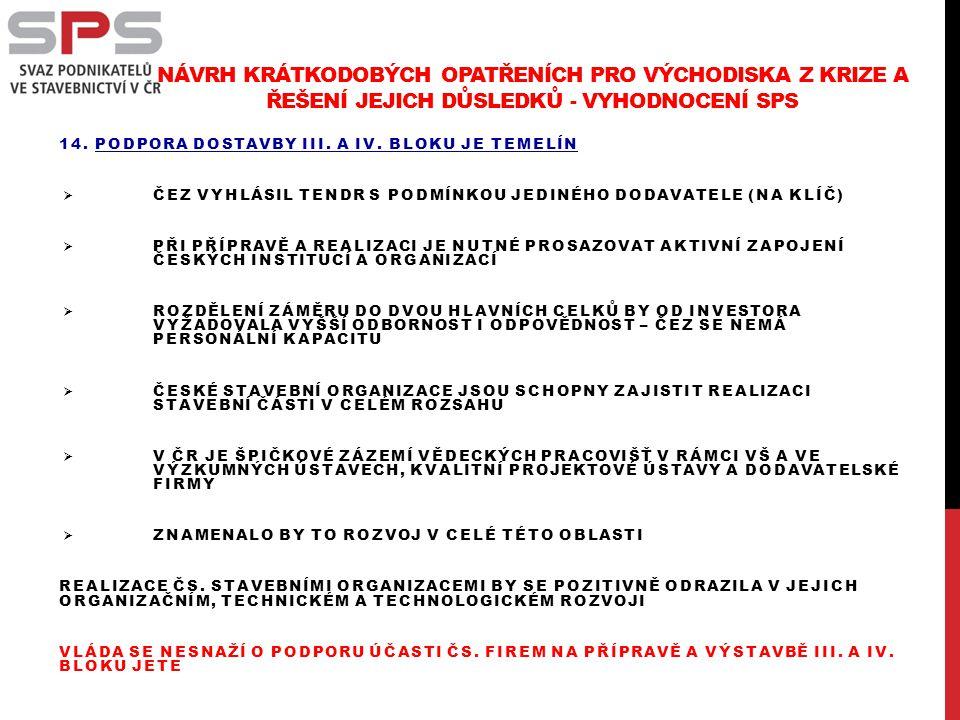 14. PODPORA DOSTAVBY III. A IV.