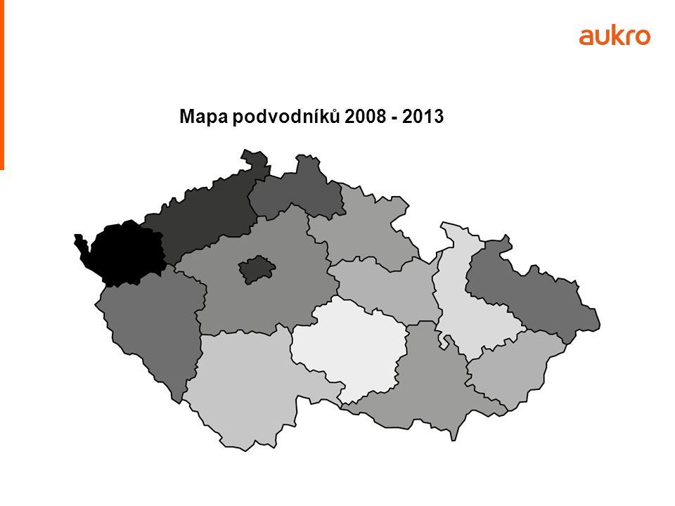 Mapa podvodníků 2008 - 2013