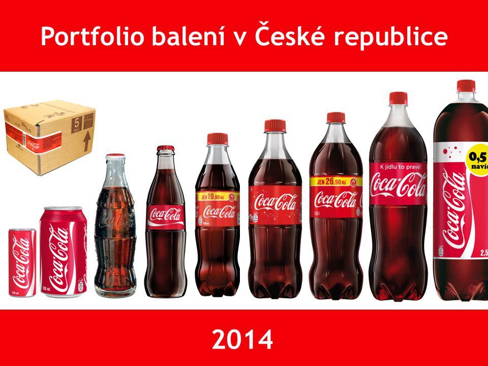 Portfolio PET balení v České republice 2014 Obsahuje 30% recyklovaného materiálu PET