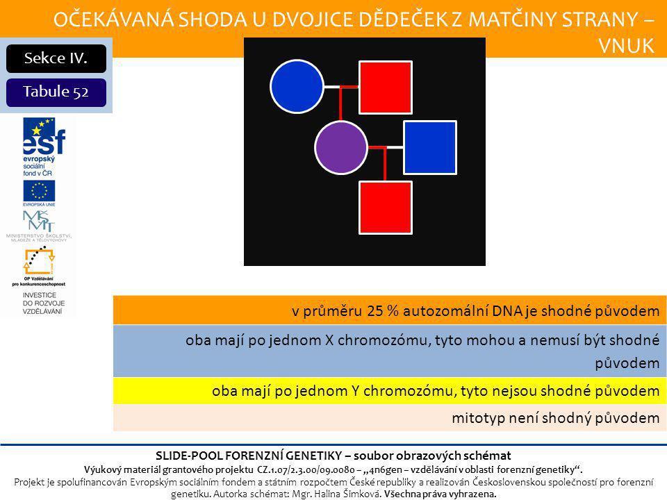OČEKÁVANÁ SHODA U DVOJICE DĚDEČEK Z MATČINY STRANY – VNUK Sekce IV.