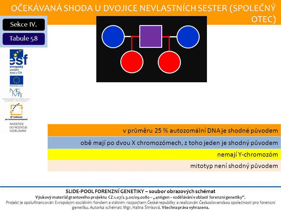 OČEKÁVANÁ SHODA U DVOJICE NEVLASTNÍCH SESTER (SPOLEČNÝ OTEC) Sekce IV.