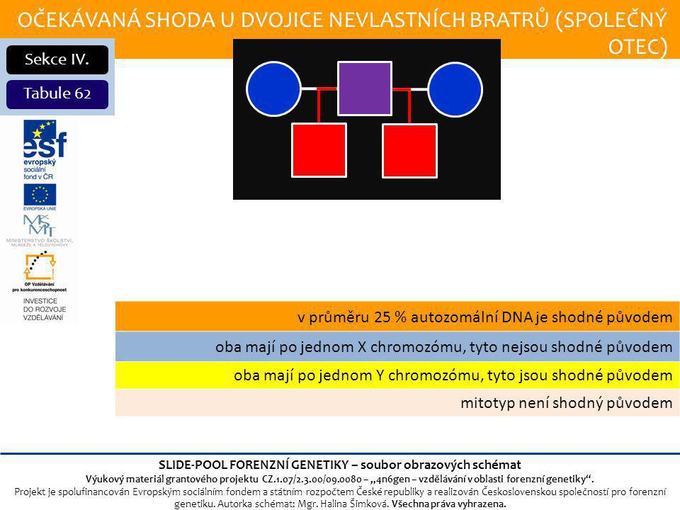 OČEKÁVANÁ SHODA U DVOJICE NEVLASTNÍCH BRATRŮ (SPOLEČNÝ OTEC) Sekce IV.