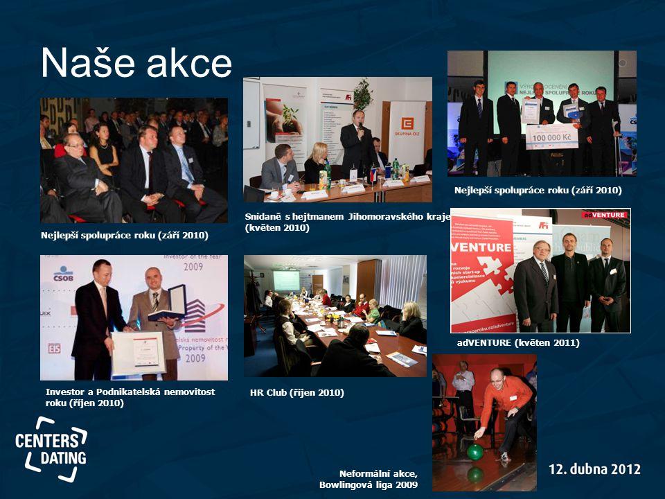 Naše akce Nejlepší spolupráce roku (září 2010) Investor a Podnikatelská nemovitost roku (říjen 2010) Snídaně s hejtmanem Jihomoravského kraje (květen
