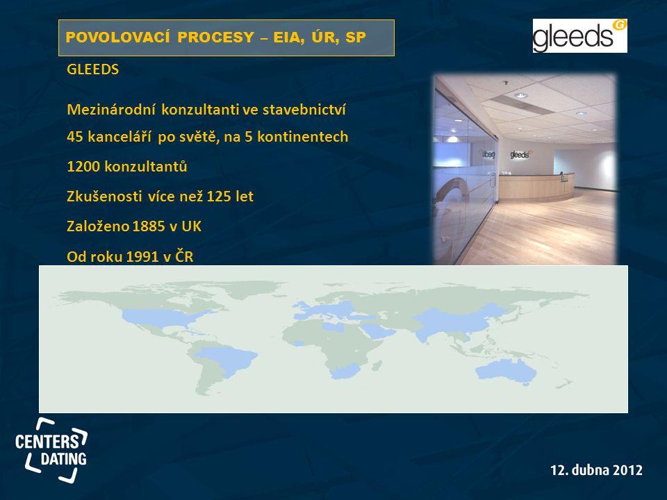 GLEEDS Mezinárodní konzultanti ve stavebnictví 45 kanceláří po světě, na 5 kontinentech 1200 konzultantů Zkušenosti více než 125 let Založeno 1885 v U