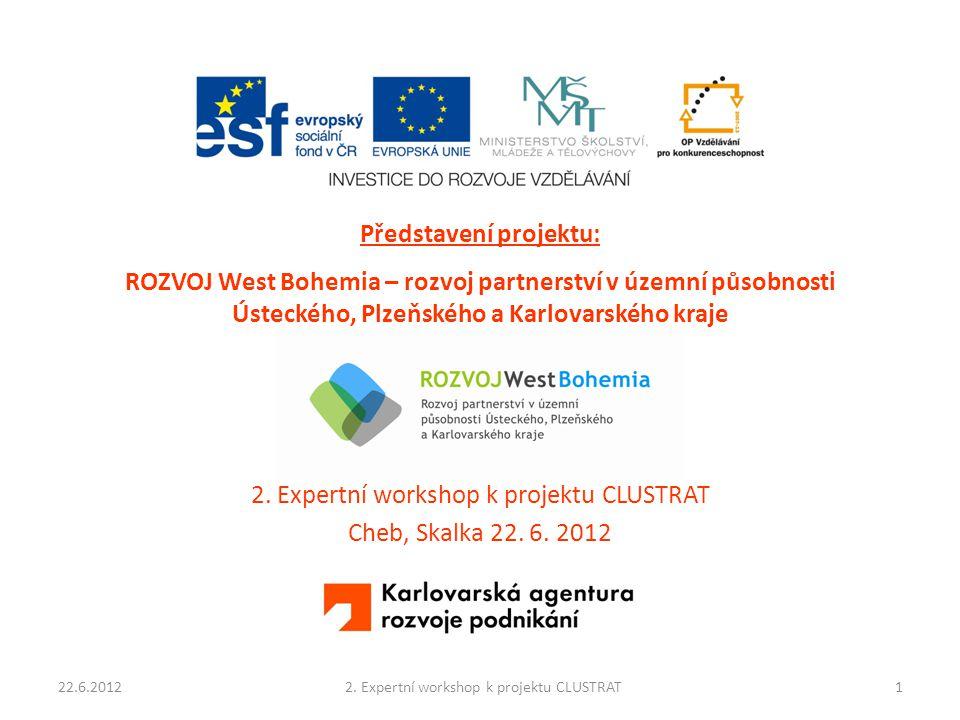 Představení projektu: ROZVOJ West Bohemia – rozvoj partnerství v územní působnosti Ústeckého, Plzeňského a Karlovarského kraje 2. Expertní workshop k