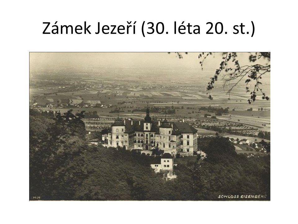 Zámek Jezeří (30. léta 20. st.)