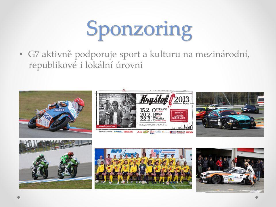 Sponzoring • G7 aktivně podporuje sport a kulturu na mezinárodní, republikové i lokální úrovni